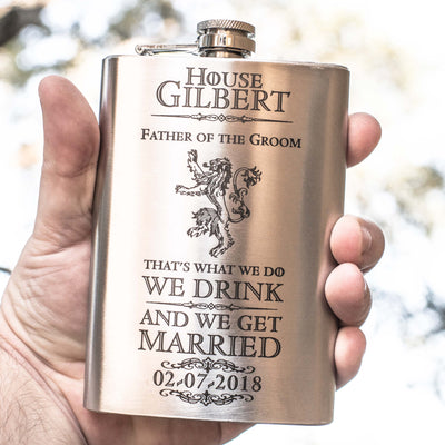 8oz That's What We Do Get Married Flask L1