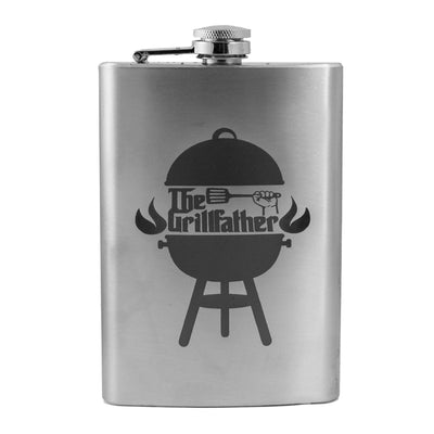8oz The Grillfather Flask L1