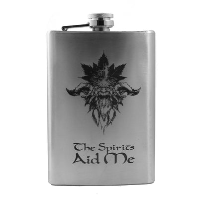 8oz The Spirits Aid Me Flask L1