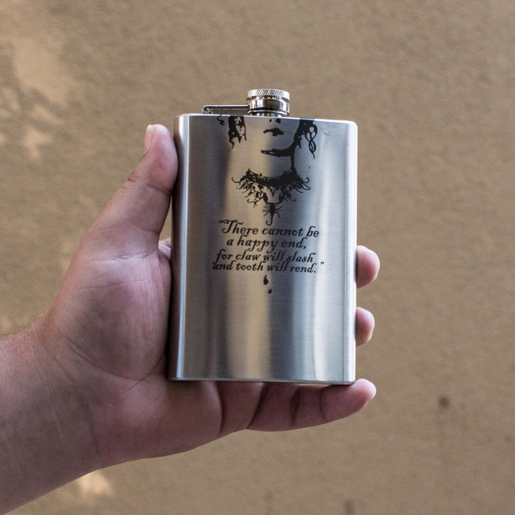 8oz There Cannot Be a Happy End Flask L1