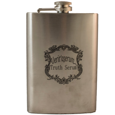 8oz Veritaserum Flask Laser Engraved