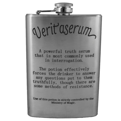 8oz Veritaserum Potion Flask Laser Engraved