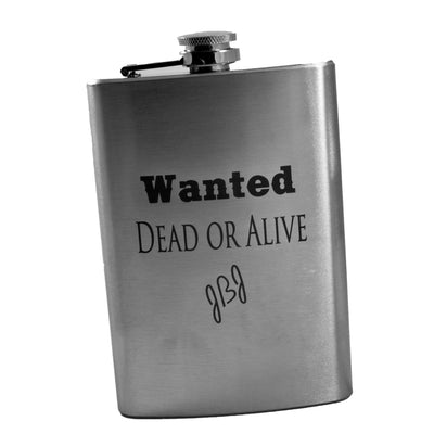 8oz Wanted Dead Or Alive Flask L1