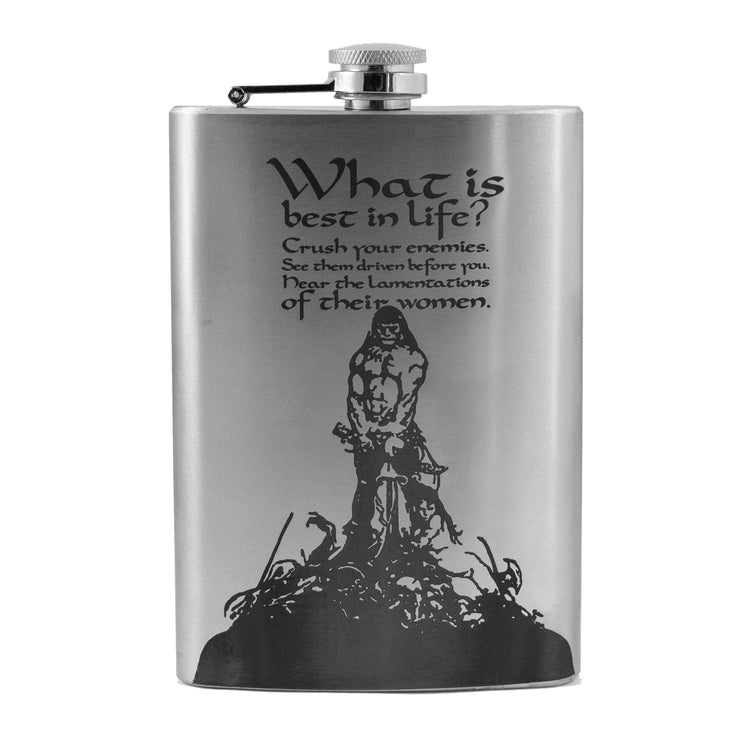 8oz What is Best in Life Flask L1