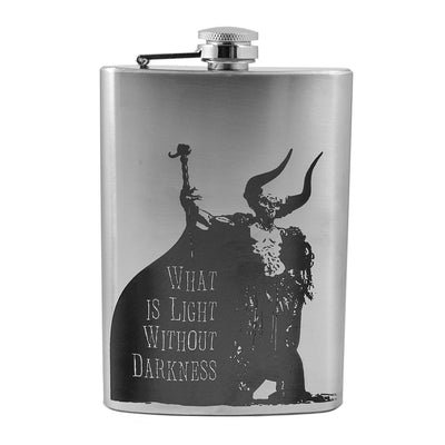 8oz What Is Light Without Darkness Flask L1