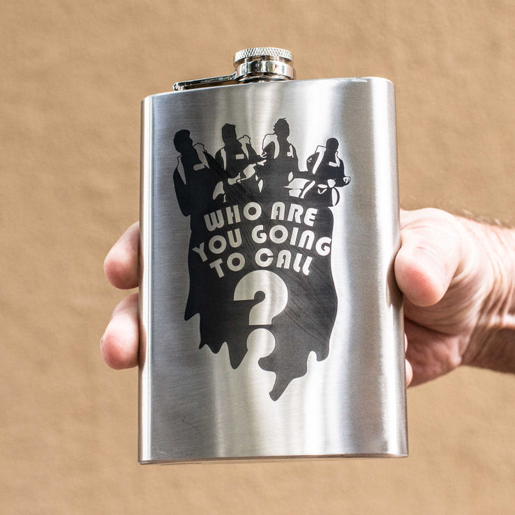 8oz Who Are You Going To Call Flask L1