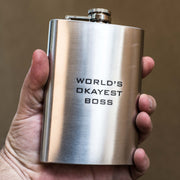8oz World's Okayest Boss Flask L1