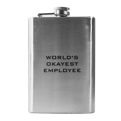 8oz World's Okayest Employee Flask L1