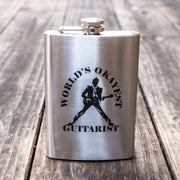 8oz World's Okayest Guitarist Flask L1