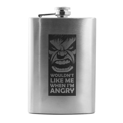 8oz Wouldn't Like Me When I'm Angry Flask L1
