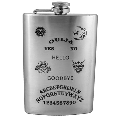 8oz Ouija Flask Laser Engraved