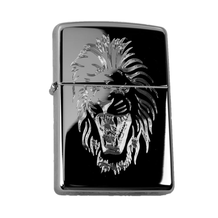 Lighter - Angry Lion High Polish Chrome R1
