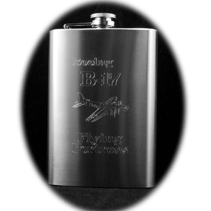 8oz B-17 Flying Fortress Hip Flask R1