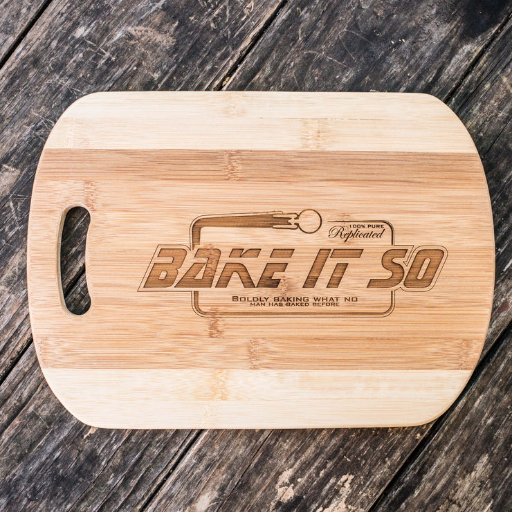 Bake It So Cutting Board 14''x9.5''x.5'' Bamboo