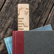 Bend the Knee not the Page - Bookmark