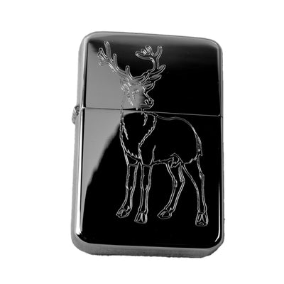 Lighter - Big Buck Deer Hunter High Polish Chrome Windproof R1
