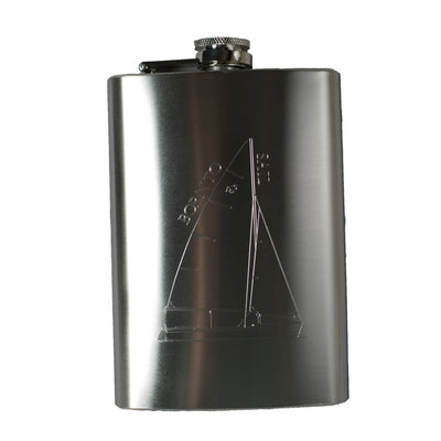 8oz Born To Sail Hip Flask R1