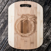 Celtic Dragon - Cutting Board 14''x9.5''x.5'' Bamboo