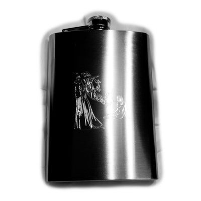 8oz Disappearing Clothes Hip Flask Wizard Magic art R1