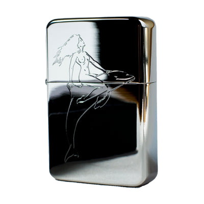 Lighter - Dolphin Rider High Polish Chrome R1