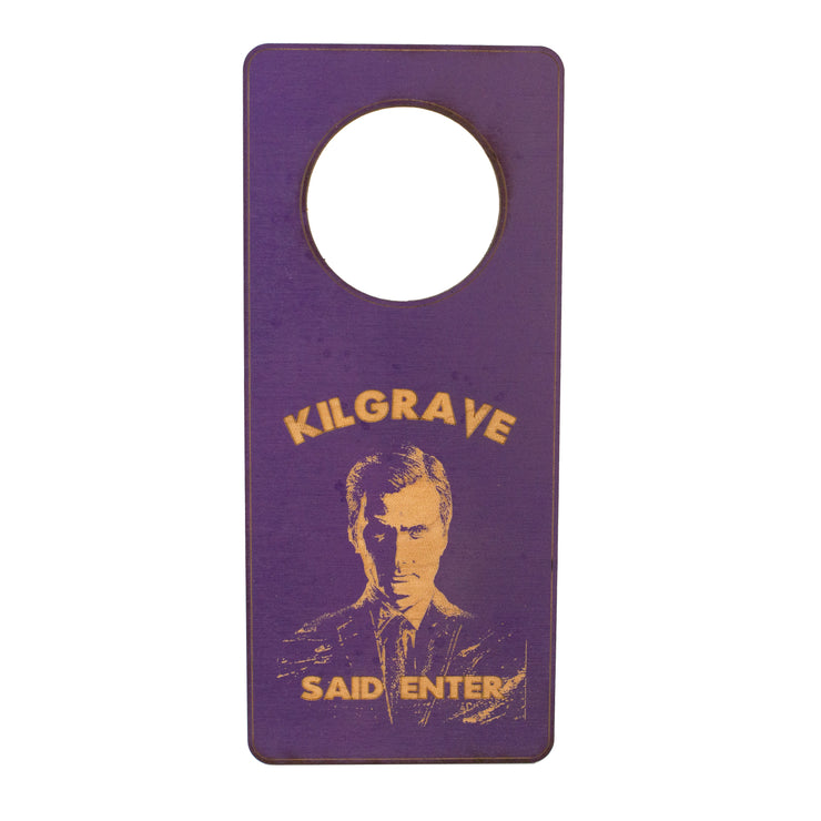 Door Hanger - Kilgrave Said Enter 9x4in Painted Wood Purple