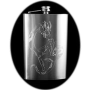 8oz Dragon Curse HD Hip Flask R1