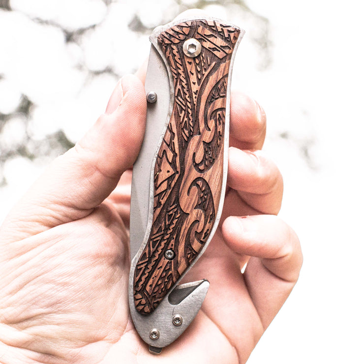 Knife - Polynesian Tribal 138