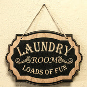 Laundry Room - Black Door Sign 7x9.5in