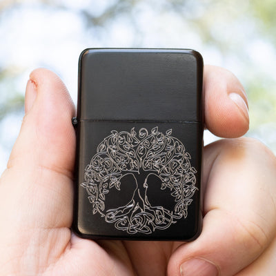 Lighter - BLACK Celtic Tree of Life - Star Int. Inc R1