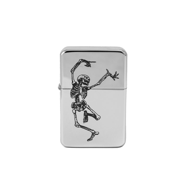 Lighter - Dancing Skeleton High Polish Chrome L1