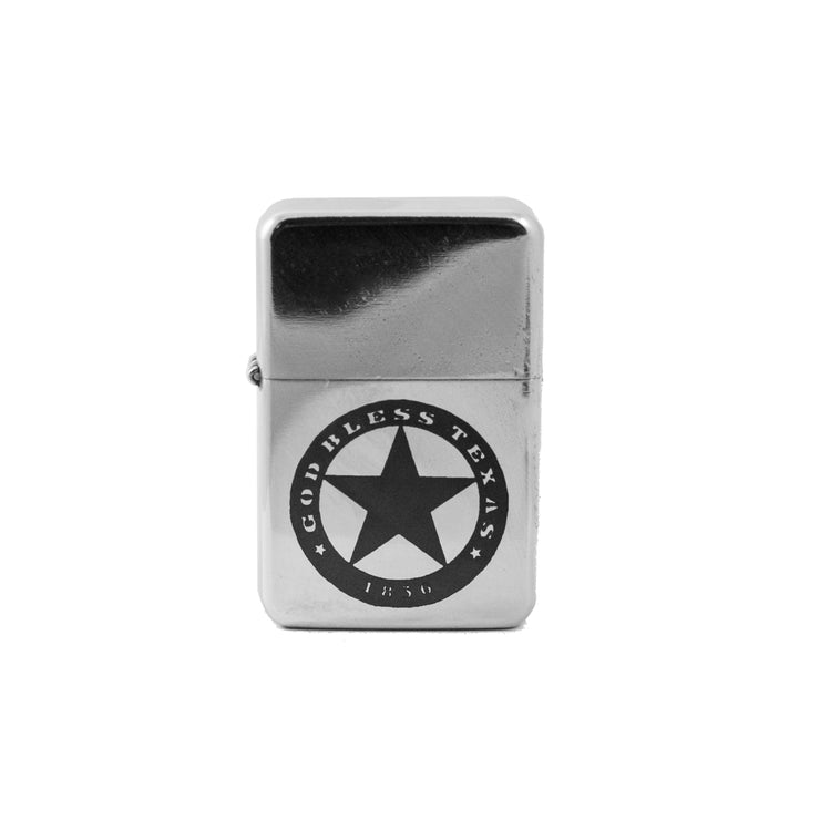 Lighter - God Bless Texas High Polish Chrome L1