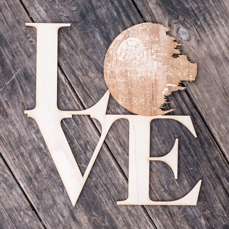 Love Sign - Death Star - Geek Love Collection