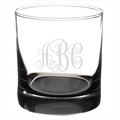 Monogram Rocks Glass