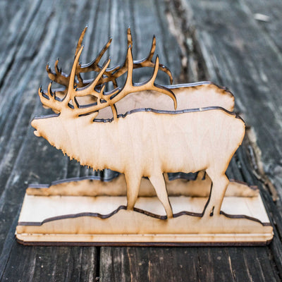 Napkin Holder - Elk - Raw Wood Craft