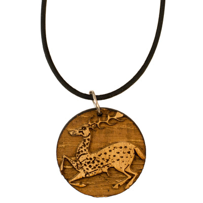 Necklace - Ancient Greek Deer - Raw Wood