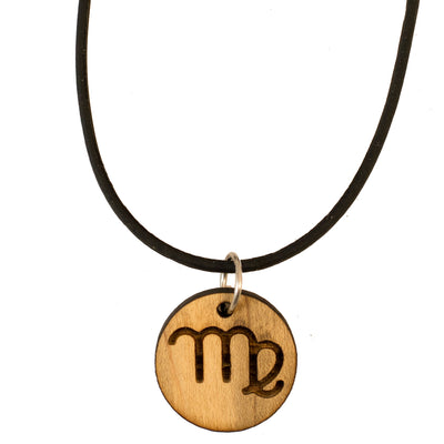 Necklace - Virgo - Raw Wood