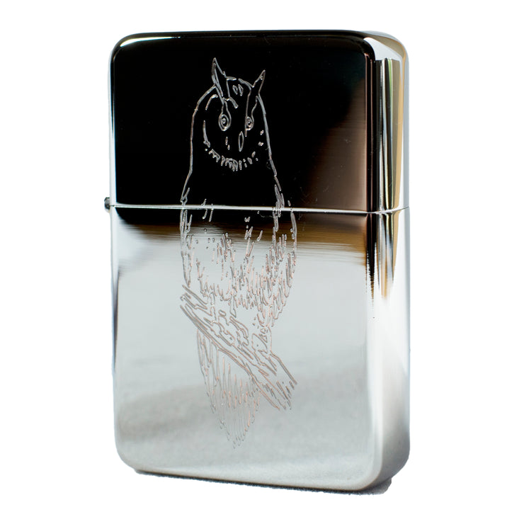 Lighter - Owl High Polish Chrome R1