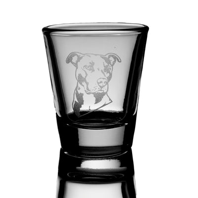 Pitbull dog puppy Shot Glass