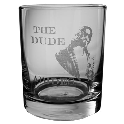 Designer Rocks Glass - The Dude Abides Rocks Glass Lowball