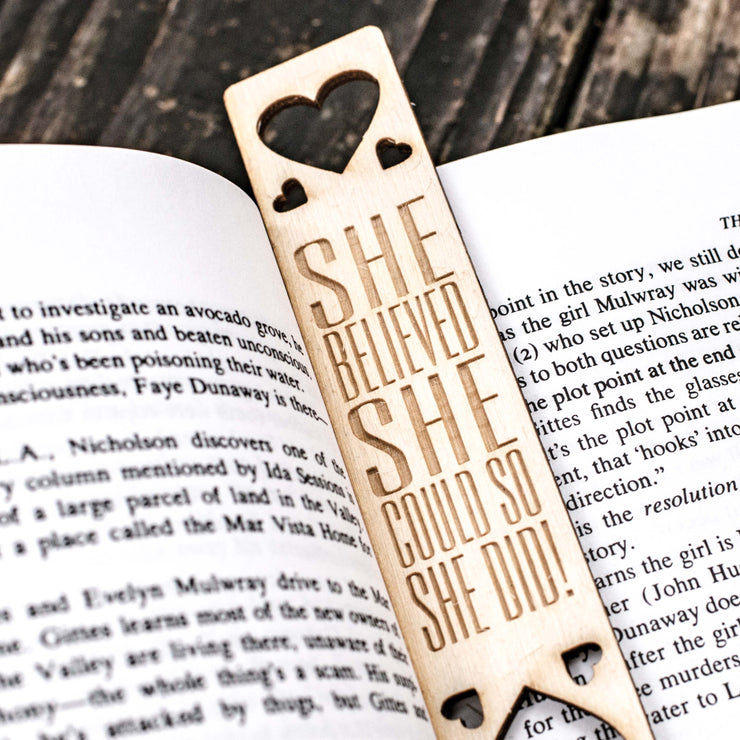 She Believed She Could - Bookmark