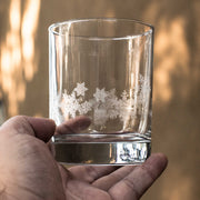 Designer Rocks Glass - Snowflakes