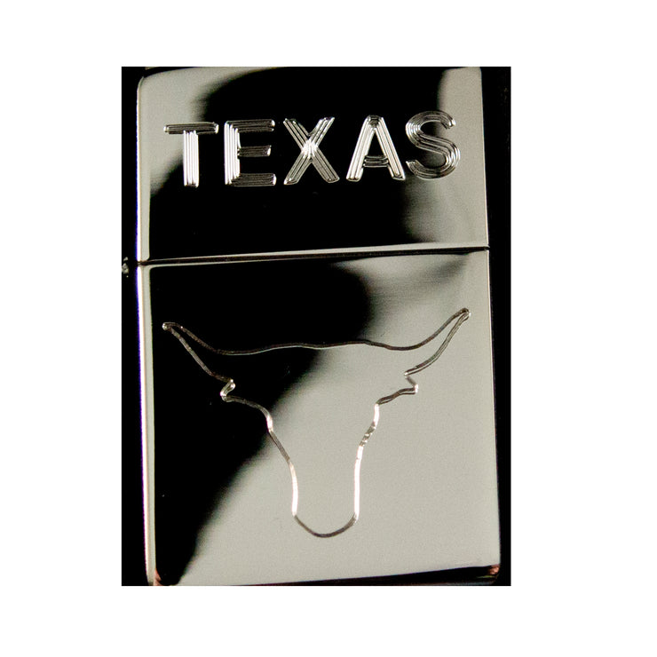 Lighter - Texas Bull High Polish Chrome R1