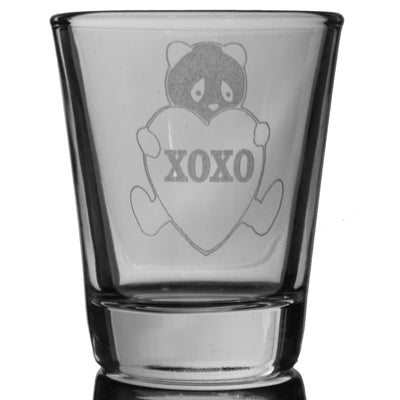 2oz XOXO Panda Shot Glass - Wild Life