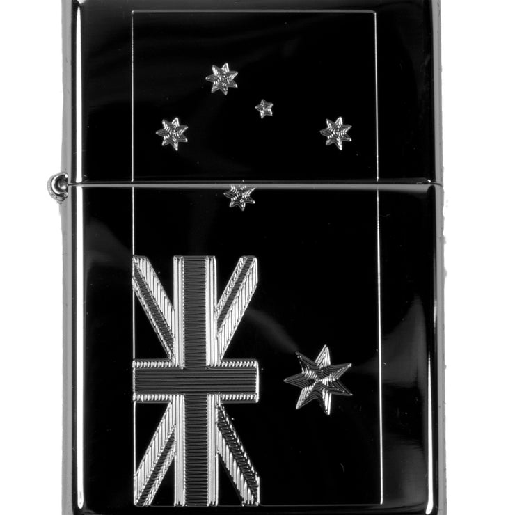 Lighter - Australian Flag High Polish Chrome R1