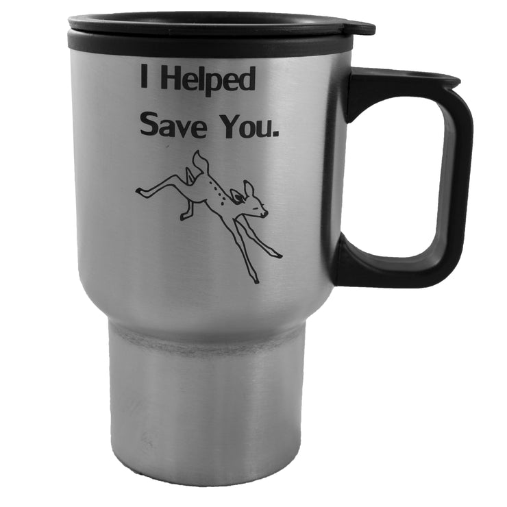 14oz I Helped Save You Deer Mug L1