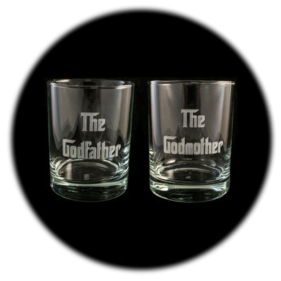 Rocks Glass (Qty 2) - The Godfather and The Godmother