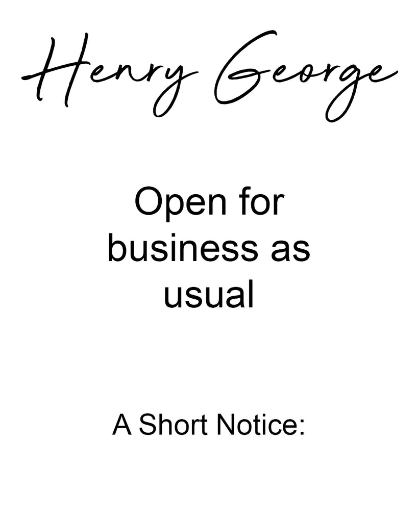 COVID-19: An update from Henry George Menswear