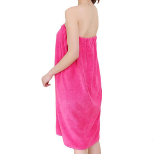 Soft Superfine Fiber Bathing Towels Bath Skirts with Dry Hair Cap