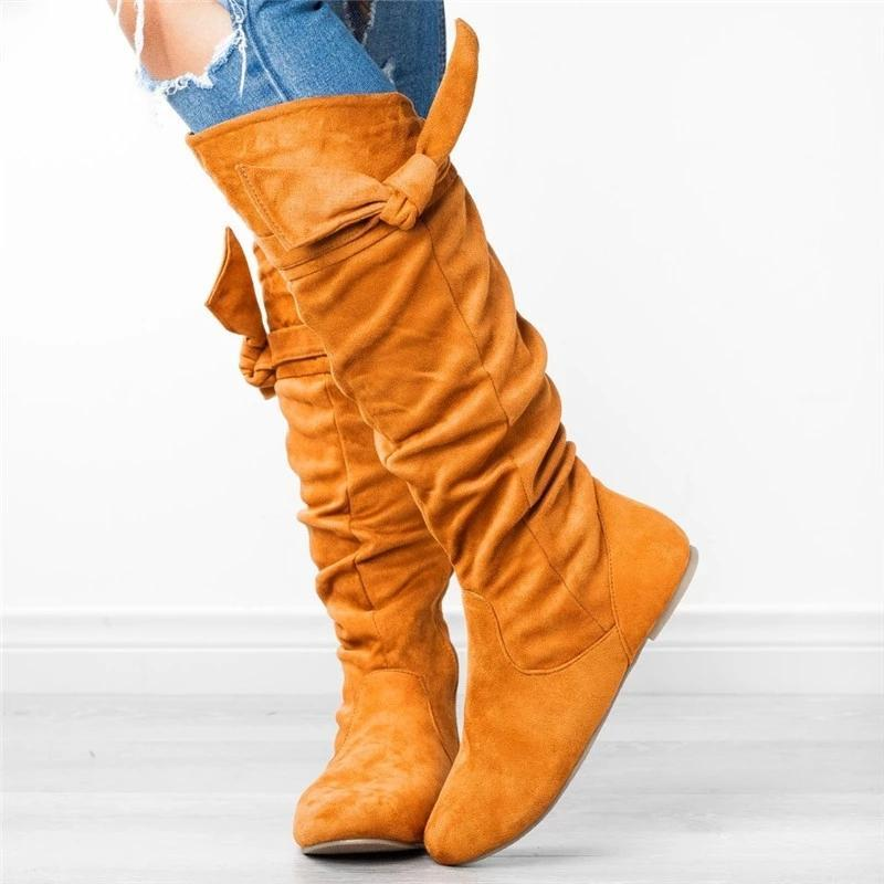 Knee Height Zipper Slouch Boots Beautiful Knotted Boots Shoes