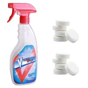 Multifunctional effervescent spray cleaner